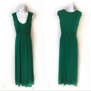 Max Studio Green Raw Edge XL Jersey Maxi Dress